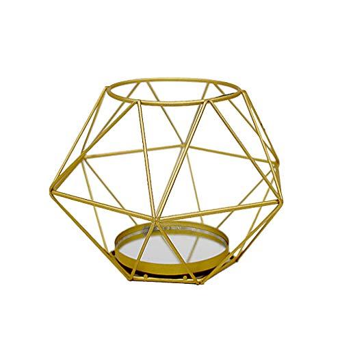 NszzJixo9 Nordic Retro Iron Tea Light, Lamp Home Decorations,Aroma Furnace, Living Room, Bedroom, Hotel, Restaurant, Holder Candlestick Lantern Decor (D)