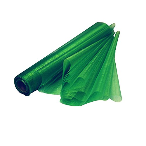 RayLineDo 50cm X 50M Organza Roll Soft Sash Fabric Wedding Chair Cover Bows Table Runner for Party in Deep Green