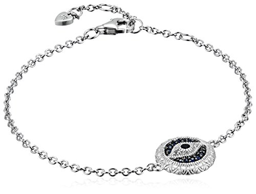 Judith Ripka Small Evil Eye Chain Bangle Bracelet