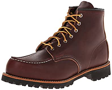 Red Wing Heritage Roughneck Lace Up Boot, Briar Oil Slick,7 D US