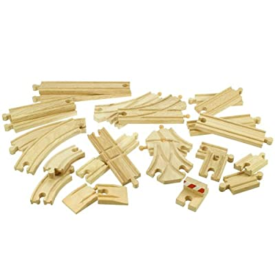 Bigjigs Assorted Expansion Train Track Pack (25 Piece)