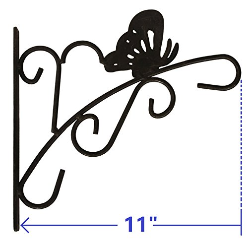 11 Hanging Plant Hook Forged Mount Against Door Fence