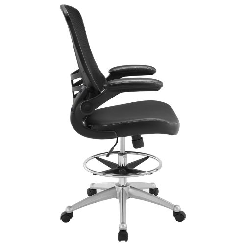 office products, office furniture, lighting, chairs, sofas,  drafting chairs 7 picture LexMod MO-EEI-1422-BLK Attainment Vinyl Seat promotion