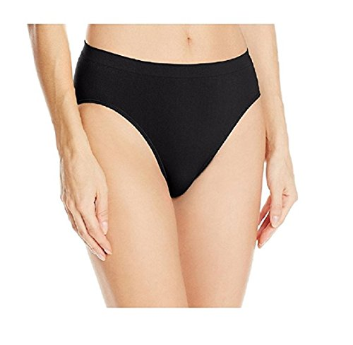 Ahh By Rhonda Shear Women's Ahh Seamless Comfort Stretch Full Coverage Brief Panty, Black, Small