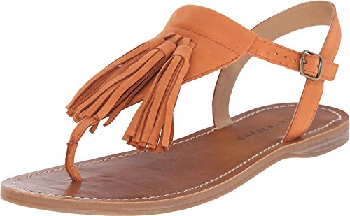 Boho-Chic Vacation & Fall Looks - Standard & Plus Size Styless - Lucky Women's Anneke Flat Sandal, Magma, 7.5 M US