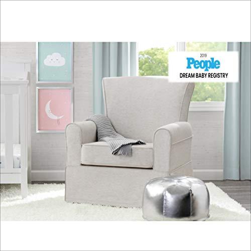 41drYn2QPRL - Delta Children Upholstered Glider Swivel Rocker Chair, Sand