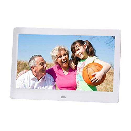 Digital Photo Frame Digital Picture Frame Electronic Photo Frame Video Multimedia Advertising Photo Frame Multifunction Support Music Video Play Widescreen HD LED LCD Wall Mount 10 Inch UK (Color : BL