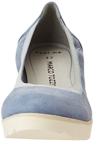Marco Tozzi Premio Damen 22427 Pumps Blau (denim Struct. 842)