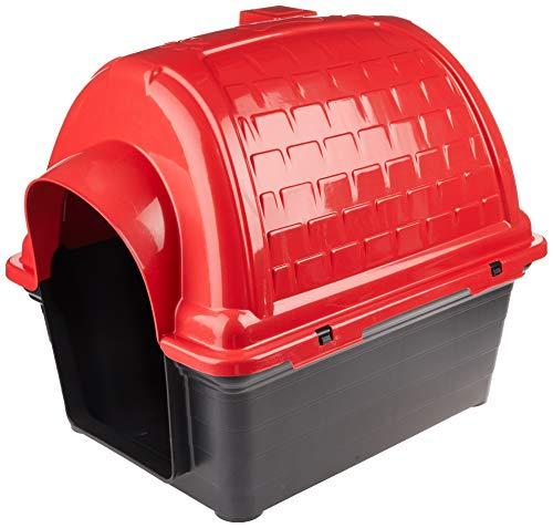 Casinha Plástica Furacão Pet Iglu N.4.0, Vermelha Furacão Pet para Cães