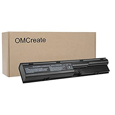 OMCreate Laptop Battery for HP Probook 4540S 4530S 4440S 4430S 4545S 4535S 4330S Series, fits P/N 633805-001 HSTNN-IB2R 633733-321 - 12 Months Warranty [Li-ion 6-Cell] from MiSiMiSiTe