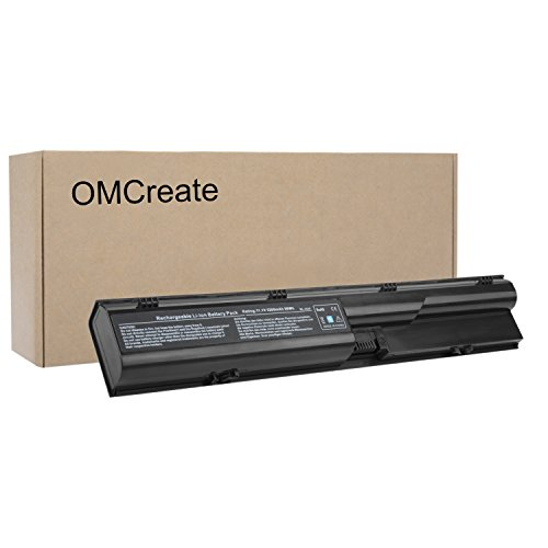 OMCreate Battery Compatible with HP Probook 4540S 4530S 4440S 4430S 4545S 4535S 4330S Series, fits P/N 633805-001 HSTNN-IB2R 633733-321 - 12 Months Warranty [Li-ion 6-Cell] (Battery Laptop Hp Probook 4530s)