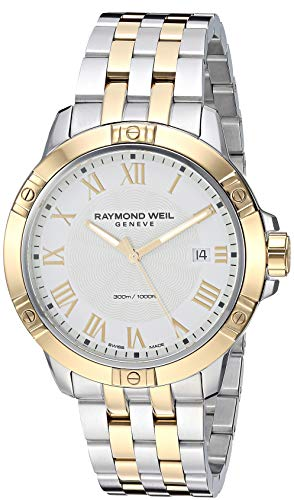 Raymond Weil ' Tango' Quartz Stainless Steel Casual Watch, Color:Two Tone (Model: 8160-STP-00308)