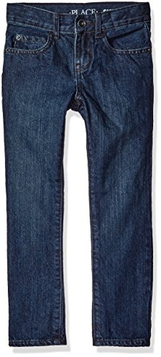 The Children's Place Boys Size Skinny Jeans, Deep Blue 9505, 7 Slim Blue Kids Jeans