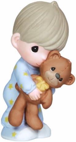 Precious Moments, Jesus Loves Me, Boy, Bisque Porcelain Figurine, 132001