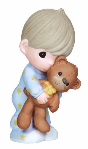 Love Porcelain (Precious Moments, Jesus Loves Me, Boy, Bisque Porcelain Figurine, 132001)