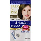 サロンドプロ 無香料ヘアカラー 早染めクリーム(白髪用) 4GR<グレイスブラウン> 40g+40g