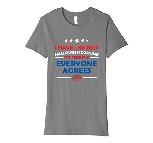Womens I Have The Best Costume T Shirt Trump Halloween Tee Small Slate