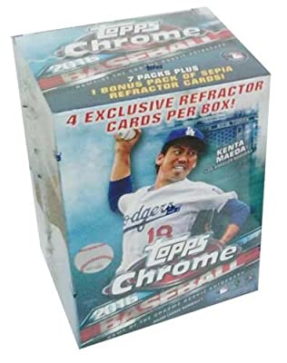 2016 Topps Chrome MLB Baseball EXCLUSIVE Factory Sealed Retail Box with SPECIAL SEPIA REFRACTOR Pack! Look for RC's, Refractors & Autographs of Carlos Correa, Trevor Story, Corey Seager & Many More!