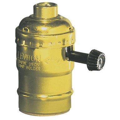 Leviton C20-07090-0PG Polished Brass Three Way Lamp ()