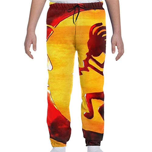 Dreamfy Kokopelli and Moon Spirit of Music Boys Girls Sweatpants with Pockets Youth Training Joggers Pants Sports Trousers ()
