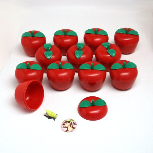 Toy Filled Plastic Bobbing Apples : package of 12