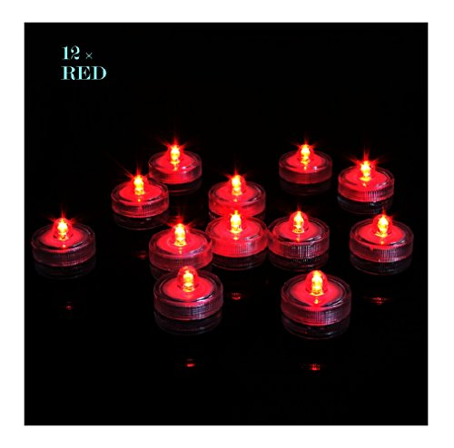 Livingly Light Home Decorations LED Tea Candles Bulb Battery Operated Flameless for (Large Unity Candle Stand)