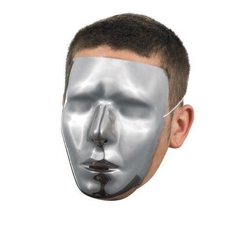 Blank Male Chrome Mask Costume Accessory]()