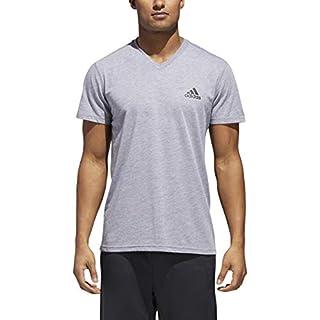 adidas Men's Training Ultimate Short Sleeve V-Neck Tee, Medium Grey Heather, XX-Large