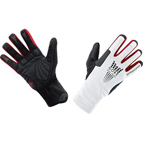 Gore Bike Wear Men's Xenon Soft Shell Windstopper Thermo Glove (White/Black, - White Glove Gore