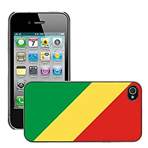 GoGoMobile Slim Protector Hard Shell Cover Case // V00001032 congo National Country Flag // Apple iPhone 4 4S 4G