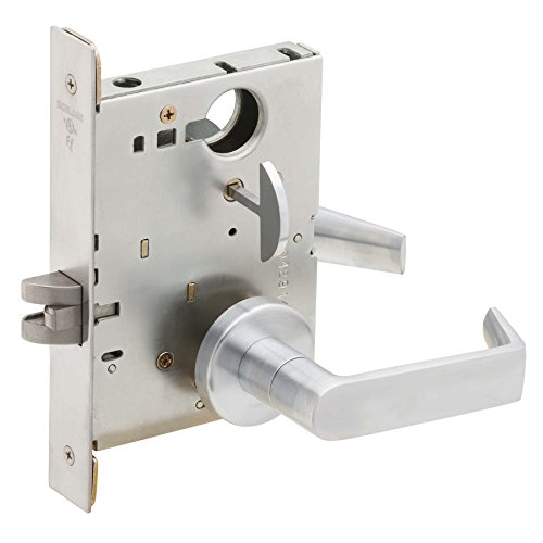 Schlage L9040 06A 626 Series L Grade 1 Mortise Lock, Privacy Function, Keyless, 06A Design, Satin Chrome Finish