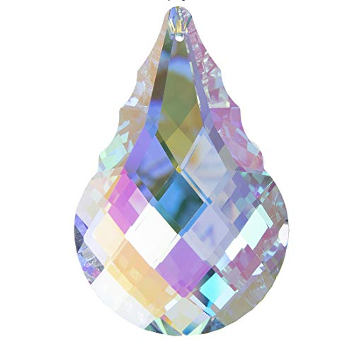 (H&D Colorful Crystal Chandelier Crystals Hanging Lamp Prisms Sun Catcher 76mm)