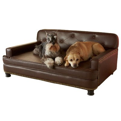 Large Raised Dog Sofa Bed For Pets Upto 75 lbs Perfect For Living Room