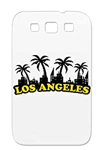 Los Angeles Miami Vacation Usa Westside Cities Countries America Palm Tree City California Summer For Sumsang Galaxy S3 Gold TPU Case