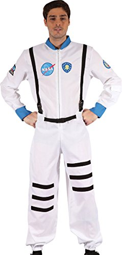 Mens Fancy Dress Party Nasa Spaceman Flight Suit Astronaut Complete Outfit (Adult Nasa Flight Suit)