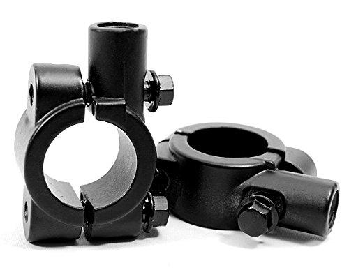 2X New Black 7//8 Handlebar Mount Clamp 10mm Thread Mirror Adapters Motorcycle ATV 99/_OnLine