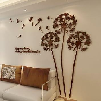 Hochwertig Wall Sticker Löwenzahn Spiegel Aus Acryl 3d Malerei Schlafzimmer Sofa Im  Wohnzimmer TV Hintergrund Wand Home