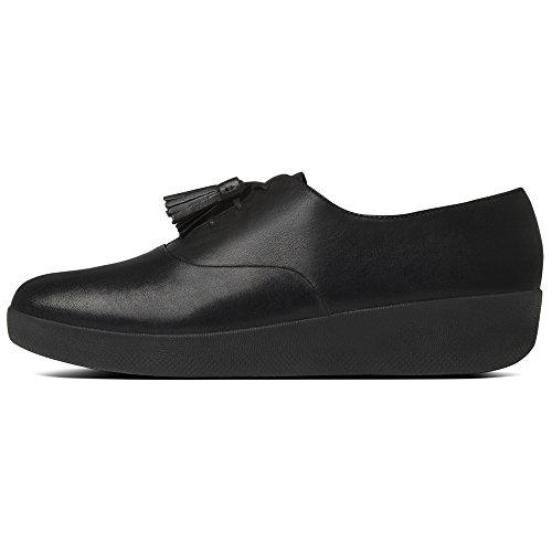 para Classic Superoxford Zapatos de Mujer FITFLOP Tassel EU Negro 41 Oxford Cordones 090 Black Uqwdq0