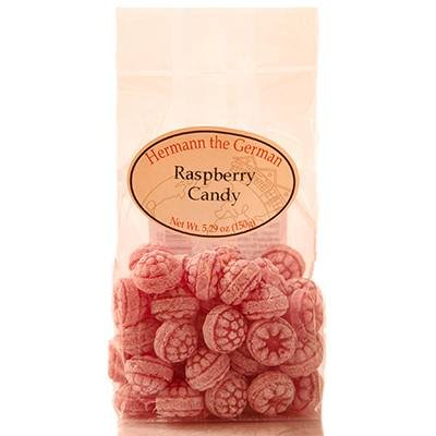 Hermann the German Himbeer Bonbons 150g (Raspberry Candy 5.29oz) (Germany Candy)