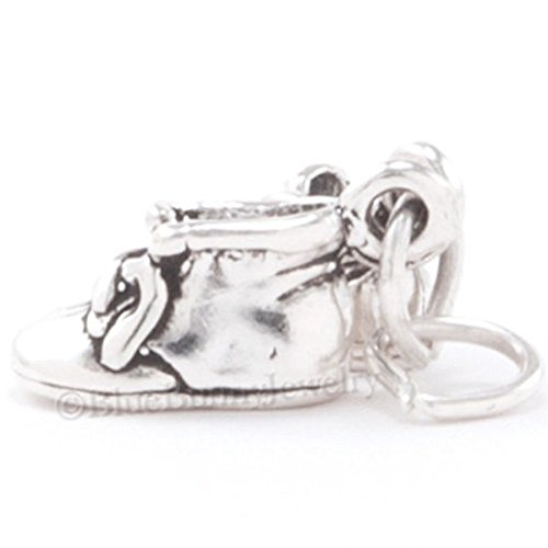 BABY SHOES Bracelet Charm Pendant STERLING SILVER Moveable Pair 925 3D BOOTIES Jewelry Making Supply Pendant Bracelet DIY Crafting by Wholesale Charms