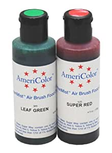 Leaf Green & Super Red Soft Gel Paste Christmas Food Coloring Set, 4.5 oz. Bottles