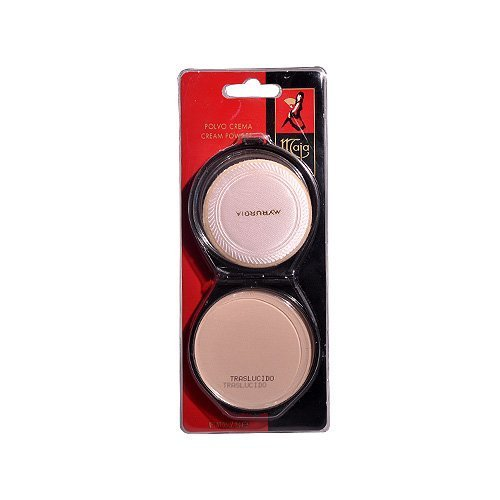 Maja Cream Powder Traslucido .53 Oz. With Mirror-Polvo Crema Compacto Con Espejo