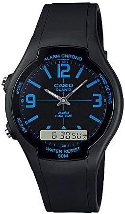 【P】CASIO(カシオ) AW-90H-2B/AW90H-2B ベーシック アナデジ ブルーインデックス メンズ/ユニセックスウォッチ 腕時計 [並行輸入品]