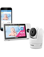 """VTech VM901 WiFi Video Baby Monitor with Free Live Remote Access, 1080p Full HD Camera, 5"""" Screen, Pan Tilt Zoom, HD Night Vision, 2-Way Audio Talk, Motion & Temperature Alert, Work with iOS, Android"""