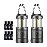 LED Camping Lantern, Swiftrans Lantern Flashlight Ultra Bright Survival Gear for Emergencies, Hurricanes with Magnetic Base (2 Pack)