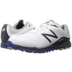 New Balance Men's Minimus Golf Shoe, Whiteblue, 9 2e Us