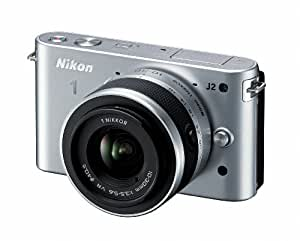 Nikon 1 J2 10.1 MP HD Digital Camera with 10-30mm and 30-110mm VR Lenses (Silver)