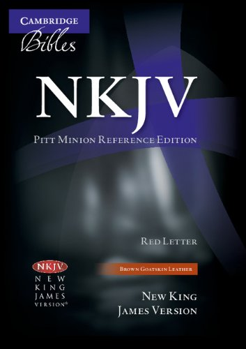 NKJV Pitt Minion Reference Bible, Brown Goatskin Leather, Red-letter Text, NK446XR]()