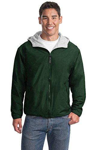 Port Authority Men's Team Jacket XL Hunter/Light Oxford