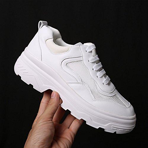 Femenina para Moda Universal blanco Zapatos Deportivos de Estudiantes Plataforma Nueva QQWWEERRTT 8g0Oant